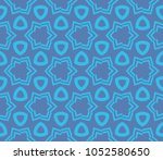 decorative seamless geometric... | Shutterstock .eps vector #1052580650
