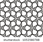 decorative seamless geometric... | Shutterstock .eps vector #1052580788
