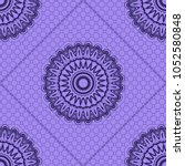 beautiful tablecloth. seamless... | Shutterstock .eps vector #1052580848