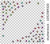 colorful gradients umbrella... | Shutterstock .eps vector #1052589320