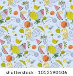 cute abstract pattern with... | Shutterstock .eps vector #1052590106