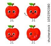 vector illustration flat apple...   Shutterstock .eps vector #1052592380