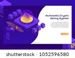 isometric crypto mining concept ... | Shutterstock .eps vector #1052596580