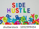 """Small photo of Financial term """"Side hustle"""" ."""