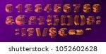 vector set  alphabet orthogonal ... | Shutterstock .eps vector #1052602628
