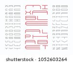mixtable font. vector alphabet... | Shutterstock .eps vector #1052603264