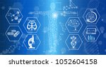 abstract background technology... | Shutterstock .eps vector #1052604158
