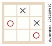 tic tac toe vector flat... | Shutterstock .eps vector #1052609690