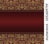 template frame design for... | Shutterstock .eps vector #1052609759