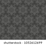 decorative geometric ornament.... | Shutterstock .eps vector #1052612699