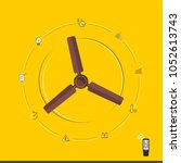 smart fan with remote | Shutterstock .eps vector #1052613743