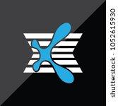 abstract letter x logo | Shutterstock .eps vector #1052615930
