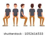 Vector Illustration Of Sitting...