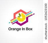 orange in box logo vector  icon ... | Shutterstock .eps vector #1052623100
