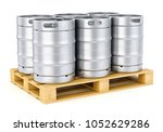 Group Of Aluminum Beer Kegs On...