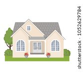 colorful cottage house isolated ... | Shutterstock .eps vector #1052629784