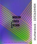 gradient cover design for your... | Shutterstock .eps vector #1052634404