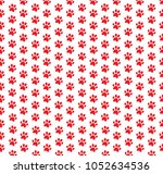 Square Seamless Pattern Of Red...