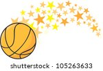 creative basketball... | Shutterstock .eps vector #105263633