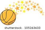 creative basketball...   Shutterstock .eps vector #105263633