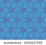 decorative seamless geometric... | Shutterstock .eps vector #1052637350