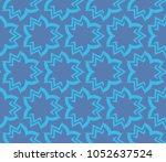 decorative seamless geometric... | Shutterstock .eps vector #1052637524