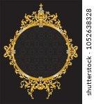 golden frame with vintage... | Shutterstock .eps vector #1052638328