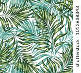 seamless pattern of a tropical...   Shutterstock .eps vector #1052638343