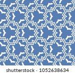 decorative seamless geometric... | Shutterstock .eps vector #1052638634