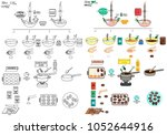 recipe easter eggs cakes diy... | Shutterstock .eps vector #1052644916