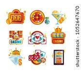 vector set of original retro... | Shutterstock .eps vector #1052647670