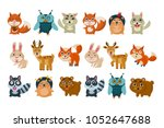 colorful set of different... | Shutterstock .eps vector #1052647688