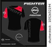 rash guard shirt design template | Shutterstock .eps vector #1052652194