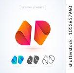 vector abstract logo elements.... | Shutterstock .eps vector #1052657960
