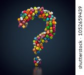 3d rendering  question mark... | Shutterstock . vector #1052659439