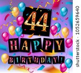 44 years anniversary vector... | Shutterstock .eps vector #1052659640