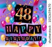 48 years anniversary vector... | Shutterstock .eps vector #1052659670