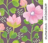 seamless pattern with gouache... | Shutterstock . vector #1052660639