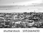 the main view of vilnius old... | Shutterstock . vector #1052664650