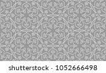 vintage abstract floral... | Shutterstock .eps vector #1052666498