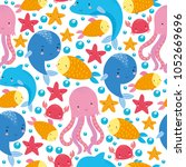 Seamless Pattern Underwater...