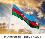 Azerbaijan Flag Waving Against...