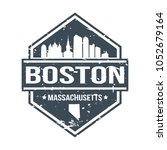 boston massachusetts travel...   Shutterstock .eps vector #1052679164