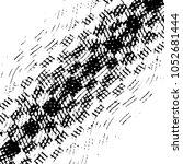 grunge halftone black and white ... | Shutterstock .eps vector #1052681444
