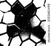 grunge halftone black and white ... | Shutterstock .eps vector #1052681498