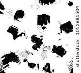 grunge halftone black and white ... | Shutterstock .eps vector #1052681504
