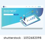 income investment profit banner ... | Shutterstock .eps vector #1052682098
