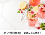 summer refreshing drinks  fruit ... | Shutterstock . vector #1052682554