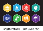 tutoring infographic icon set | Shutterstock .eps vector #1052686754