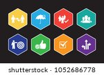 trust infographic icon set | Shutterstock .eps vector #1052686778